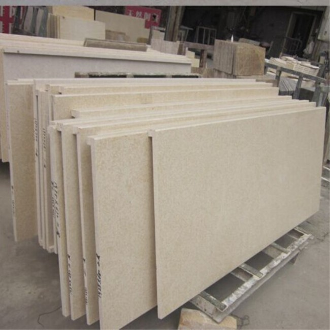 Galala beige marble countertop slabs