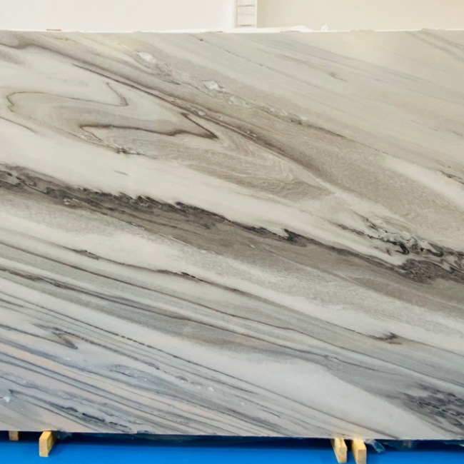 White galaxy marble slabs