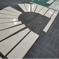 White marble arc stair for villa