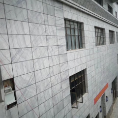 Guangxi  white marble exterior wall cladding panels