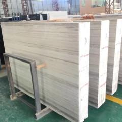White wood marble slabs