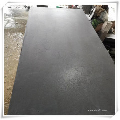 Leather finish black basalt tiles