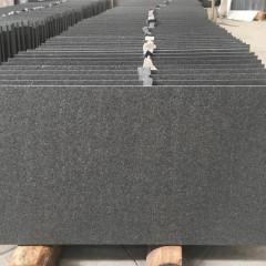 Flamed Shanxi black granite tiles