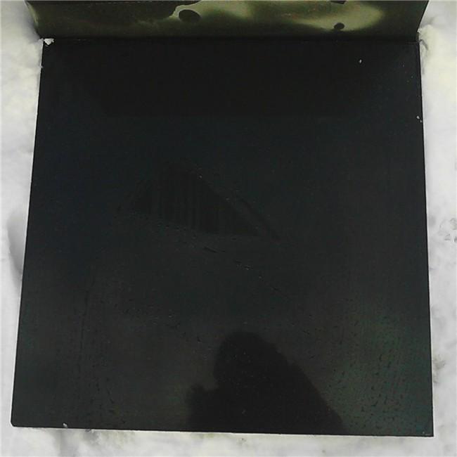 Polished Mongolian black  granite tiles for wall cladding