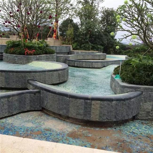 Sesame black  granite pool coping
