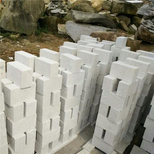 Pearl  white granite cobble stone