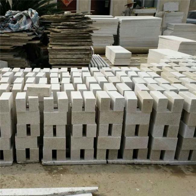 Pearl white granite cobblestone bricks