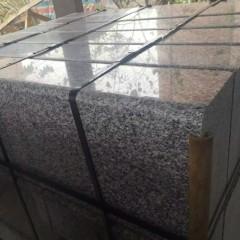 Polished G623 silver grey granite road kerbs