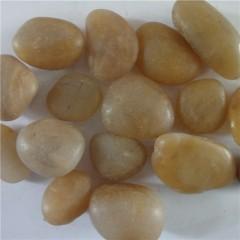 Polished yellow pebble stone