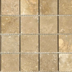 Beige travertine mosaic tiles