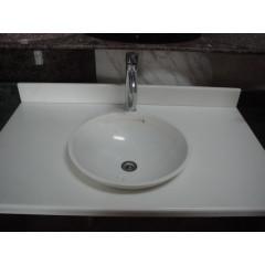 Super thin white marble bathroom sink