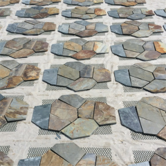 Multicolor  slate crazy pattern for garden pavement